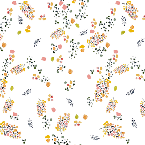Botanical Pods fabric by susan_magdangal on Spoonflower - custom fabric