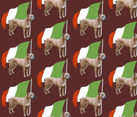 Cane Corso wth Italian Flag fabric by dogdaze_ on Spoonflower - custom fabric