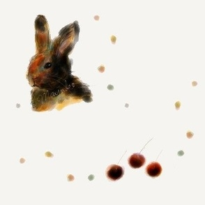 Bunny and Cherries