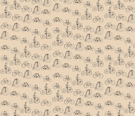 bicycles fabric by poshcrustycouture on Spoonflower - custom fabric