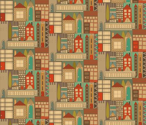 reside retro fabric by scrummy on Spoonflower - custom fabric