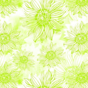 Flowery in Green and White