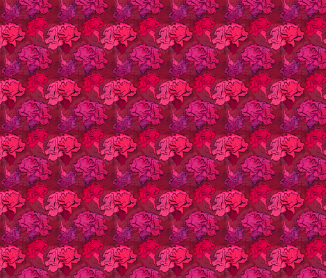 Clavel Flower fabric by claudiaowen on Spoonflower - custom fabric
