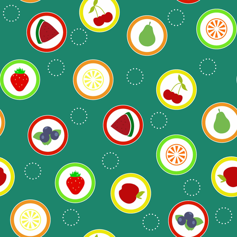 Hard Fruit Candy Green fabric by designedtoat on Spoonflower - custom fabric