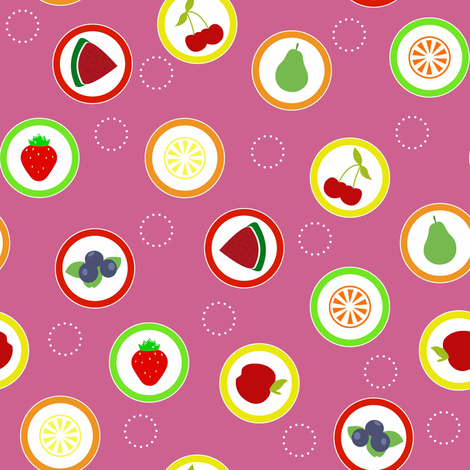 Hard Fruit Candy Pink fabric by designedtoat on Spoonflower - custom fabric