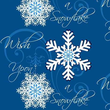 A Wish Upon a Snowflake fabric by paragonstudios on Spoonflower - custom fabric