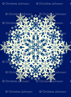 Snowflake Nordic Blue