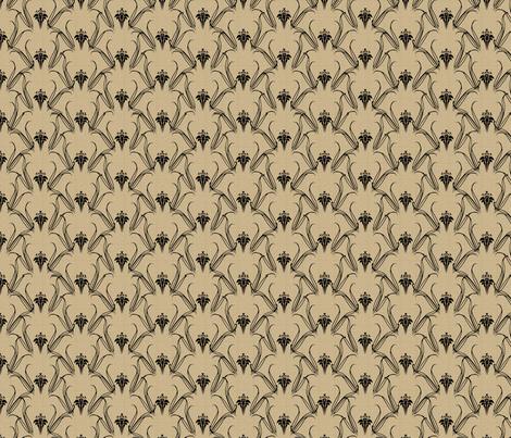 LILIEs_black_on_beige fabric by glimmericks on Spoonflower - custom fabric