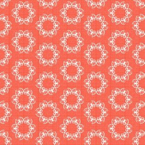 butterflakes dots coral
