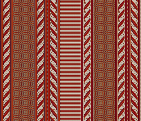 RUSTY BORDER fabric by glimmericks on Spoonflower - custom fabric