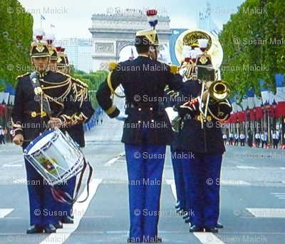 Bastille Day Parade Musicians, close-up, Paris 2012