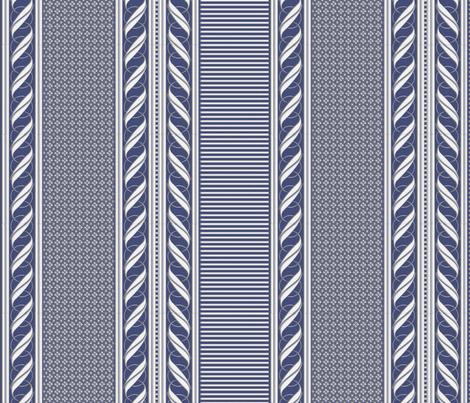 BLUE BORDER fabric by glimmericks on Spoonflower - custom fabric