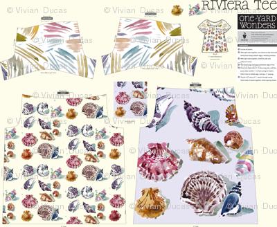 cestlaviv shell print on Riviera TEE pattern