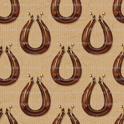Draft Horse Collar Pattern - Brown