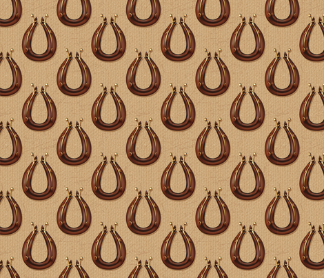 Draft Horse Collar Pattern - Brown  fabric by diane555 on Spoonflower - custom fabric