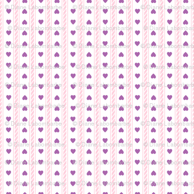 Carousel Ponies -  Coordinating  Hearts Stripe