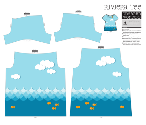 Under The Sea Riviera Tee fabric by muchoxoxo on Spoonflower - custom fabric