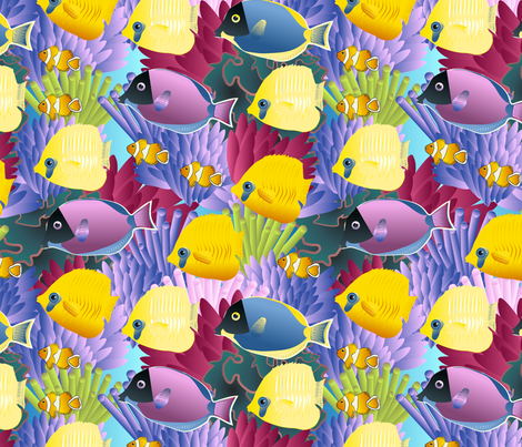 underwater life fabric by kociara on Spoonflower - custom fabric