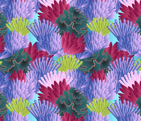 underwater flora fabric by kociara on Spoonflower - custom fabric