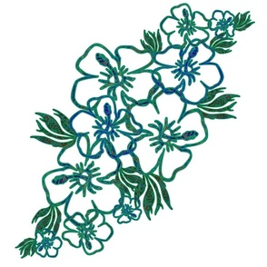 Hibiscus - Green Edge LG