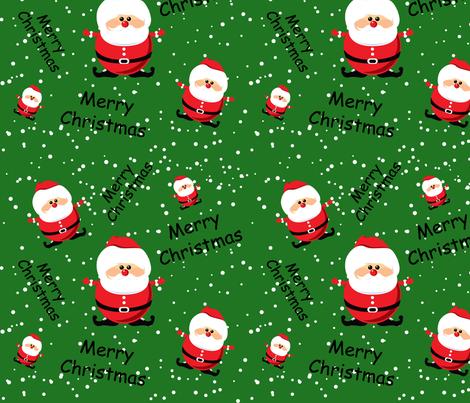 Merry Christmas Santa fabric by lesrubadesigns on Spoonflower - custom fabric