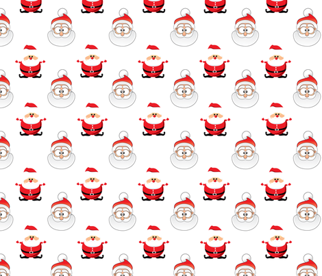 Santa Claus fabric by lesrubadesigns on Spoonflower - custom fabric