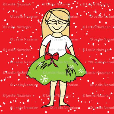 Christmas Girl in Tutu
