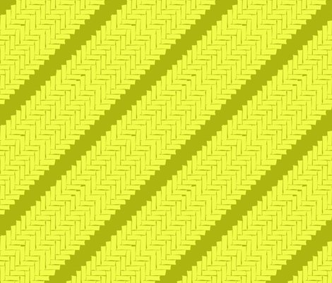 diagonal woven herringbone- lime zest fabric by marcador on Spoonflower - custom fabric