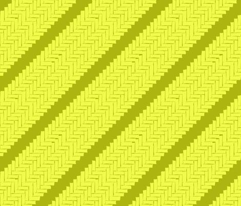 diagonal woven herringbone- lime zest fabric by marcador on Spoonflower - custom fabric