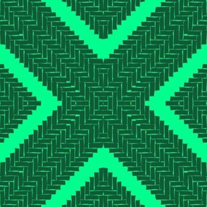 WOVEN HERRINGBONE DIAMOND - emerald