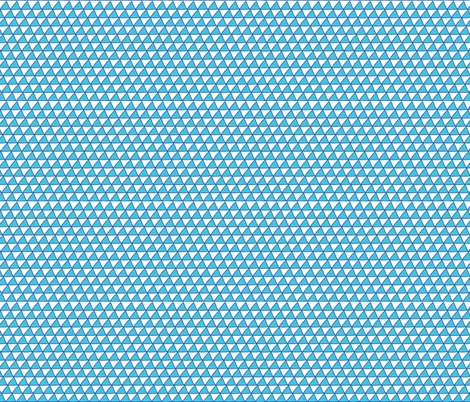 Triangles Blue fabric by curious_nook on Spoonflower - custom fabric
