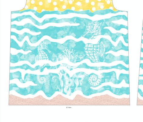 Under The Sunny Sea Tee fabric by miart on Spoonflower - custom fabric