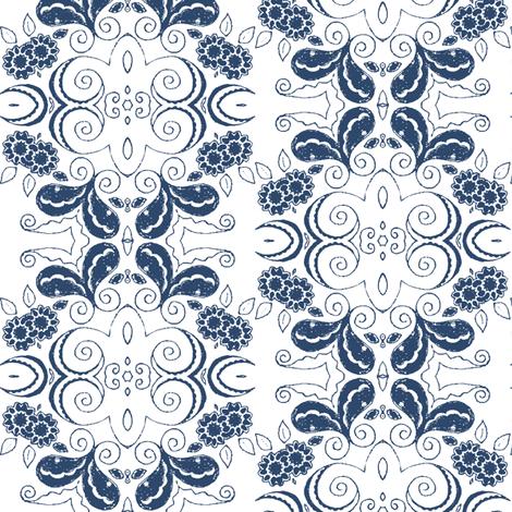 elegance_blue fabric by kerryn on Spoonflower - custom fabric