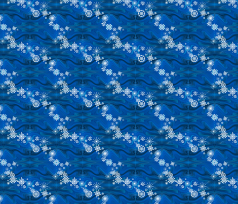 Floating_Snowflakes by Sylvie fabric by house_of_heasman on Spoonflower - custom fabric