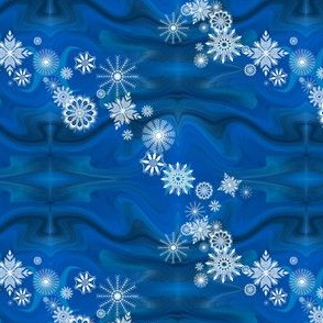 Floating_Snowflakes by Sylvie