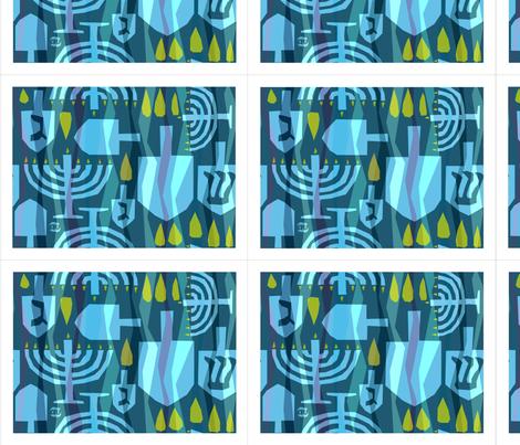 Dreidel Dreidel Placemats fabric by alicia_vance on Spoonflower - custom fabric