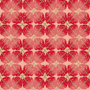 Red Rose Argyle