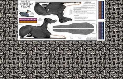 Black Tuxedo Greyhound Kit vers B - male fabric by artbyjanewalker on Spoonflower - custom fabric