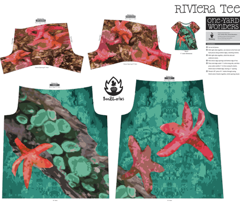 Tidal Pool Camouflage T-Shirt fabric by bee&lotus on Spoonflower - custom fabric