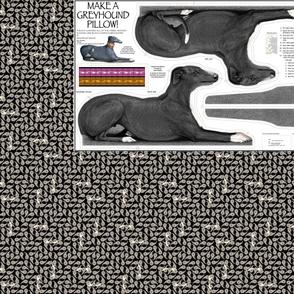 Black Tuxedo Greyhound Kit, vers A - male