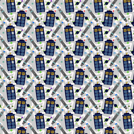 Science Fiction Print fabric by eppiepeppercorn on Spoonflower - custom fabric