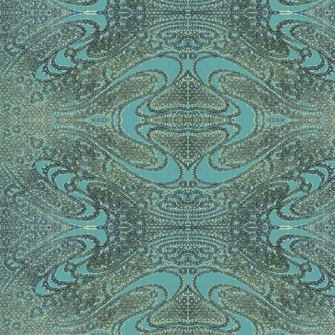 Boteh, silver, gray and light teal fabric by materialsgirl on Spoonflower - custom fabric