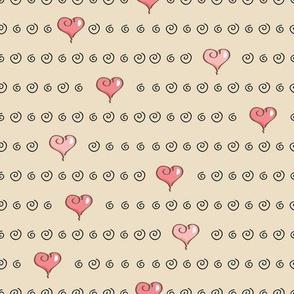 Cartoon Heart Pattern
