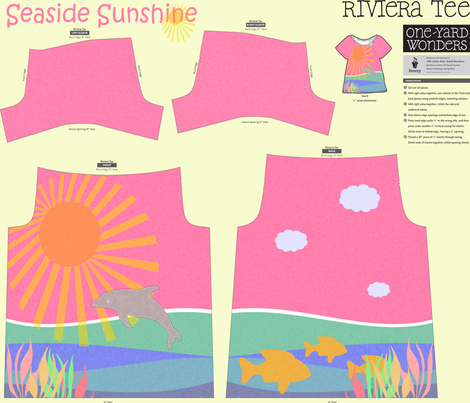 Seaside Sunshine fabric by glanoramay on Spoonflower - custom fabric