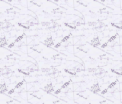 Equations (Purple) fabric by studiofibonacci on Spoonflower - custom fabric