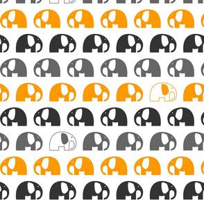 elephants_6cm_3row_orange grey charcoal