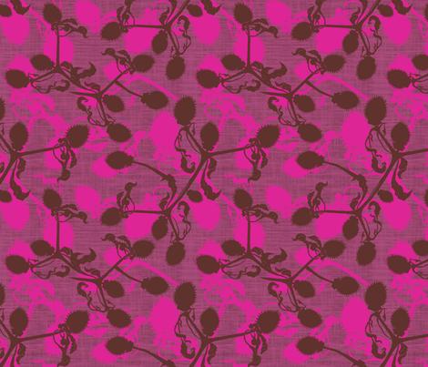Thistle Mulberry fabric by brainsarepretty on Spoonflower - custom fabric