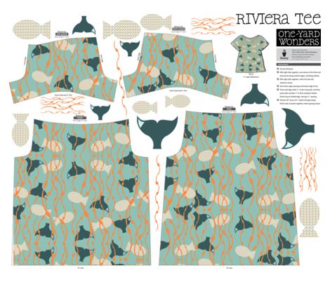 In the Waves One-Yard Wonders Riviera Tee fabric by juliapaigedesigns on Spoonflower - custom fabric