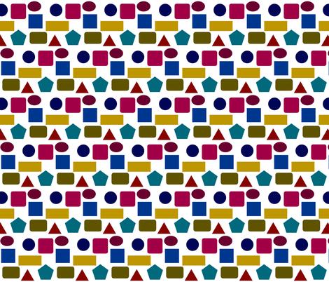 GEOMETRICS A GO GO fabric by bluevelvet on Spoonflower - custom fabric