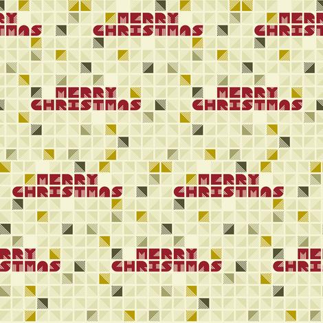 Merry Christmas fabric by candyjoyce on Spoonflower - custom fabric